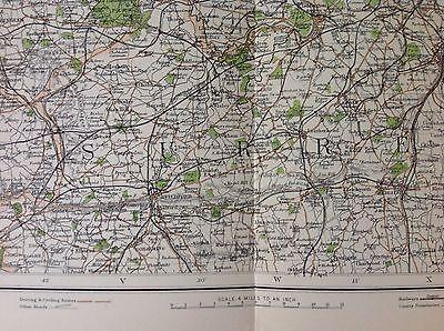 Middlesex Antique Map c1898 Bartholomew Royal Atlas Of England & Wales London 3
