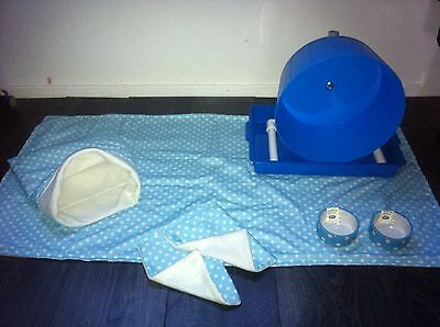 Hedgehog Starter Set,wheel,tray,bowls,bed,blankets And Liners 8