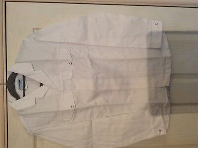 "Alexandra white Lab / catering ect L/S jacket  F106 34.5"" chest 2"