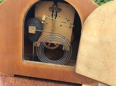 Federal Oak Mantel Clock Art Deco Period Project Barn Fresh 4