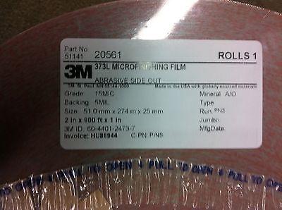 """3M 20561  373L Microfinishing Film Roll 15MIC 2""""X900' NEW 2"""