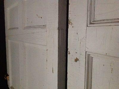 Rare Pair Of 18th Century Federal Exterior Doors Antique Door Latches Hardware 6