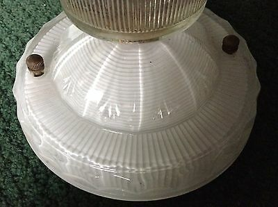 Antique Cream Color Glass Ceiling Light Fixture Chandelier Authentic Original 4