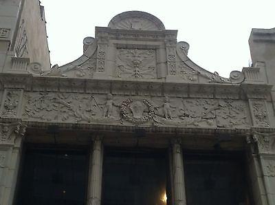3 Story Terra Cotta Building Facade Front Cherubs Dolphins 35 Feet Tall 2