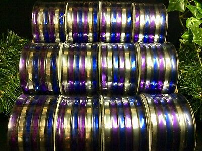 6 ROLLS GOLD CHRISTMAS CURLING RIBBONS METALLIC DECORATION GIFTS 5mm x 60mts EA