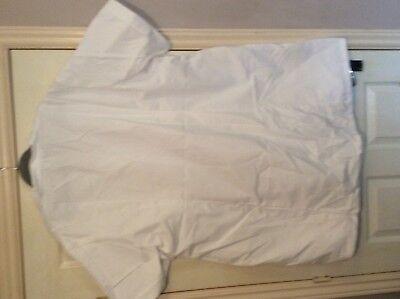 "Alexandra  White nurse carer ect tunic top s/s W63 60"" chest 5"