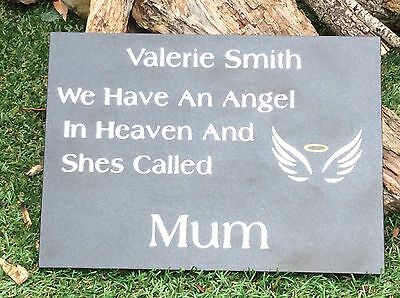 Personalised  Black Granite Memorial Plaque Grave Stone Marker Headstone 30x21cm 5