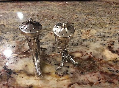 Norwegian Sterling Silver Viking Era Pepper Shaker Horns 3