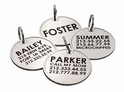 Dog ID Tag Free Custom Personalized Engraved Enamel Pet Puppy Cat Name Charm S L 6