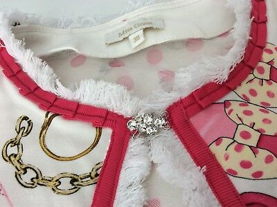 Miss Grand Outfit, Set, Size 38, Age 10,Skirt, Top & Cardigan, Pink & White, Vgc 3