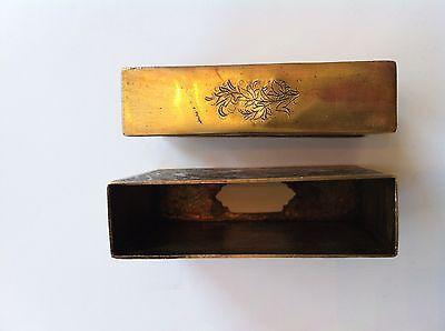 Classic Cigarette Box - 19th Ct. Persian Qajar - Signature Brass Engraved Design 11
