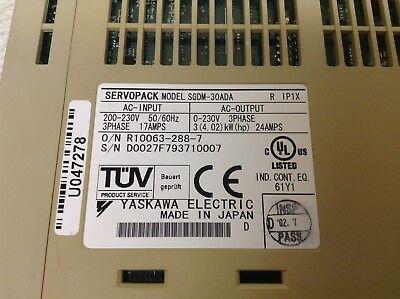 Yaskawa SGDM-30ADA Ver 31231 3 kW Servopack 200-230 V 3 Phase Input SGDM30ADA
