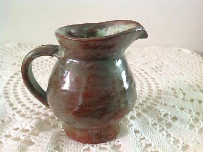 Arie Snel Signed Hand Made Pottery Set - 4 Jugs & Lidded Canister With Handles. 10