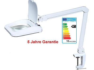 Für Münz-und Briefmarkenhandel AUBYTEC 10W XXL LED Lupenleuchte 960LUM 5J Gar