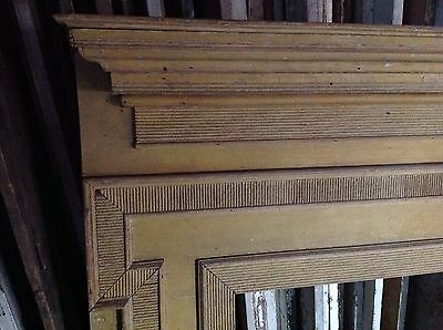 Early Pennsylvania Fireplace Mantel Mantle Original Yellow Paint 2
