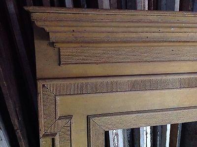 Early Pennsylvania Fireplace Mantel Mantle Original Yellow Paint 2