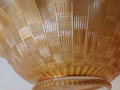 Antique Northwood Greek Key Marigold 9-inch Carnival Glass Plate, Art Glass Bowl 5