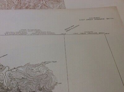 1931 map USGS Togographic map 1st proof Lost Creek Drainage Basin Colorado 4