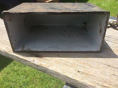 Antique Cast Iron Enameled Hot Water Stove Attachment Dispenser, Rare Primitive 6