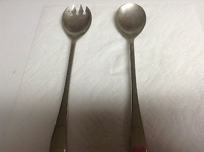 Fb Rogers Italy Silver Plated Serving Spoon & Fork 2