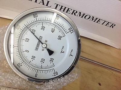 """1NGE1 BI-METAL INDUSTRIAL THERMOSTAT 50-550 F  12/"""" STEM 5/"""" DIAL NOS GRAINGER"""