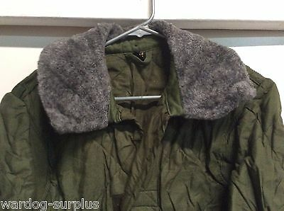 ORIGINAL ISSUE HUNGARIAN MILITARY ARMY FIELD JACKET PARKA LINER FUR COLLAR M LN