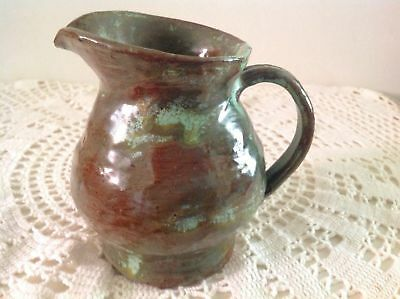Arie Snel Signed Hand Made Pottery Set - 4 Jugs & Lidded Canister With Handles. 9