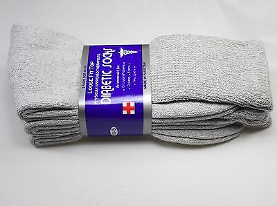 3,6 or 12 dozen Pairs Diabetic Crew Circulatory Socks Health Mens Cotton 9 10-15 12