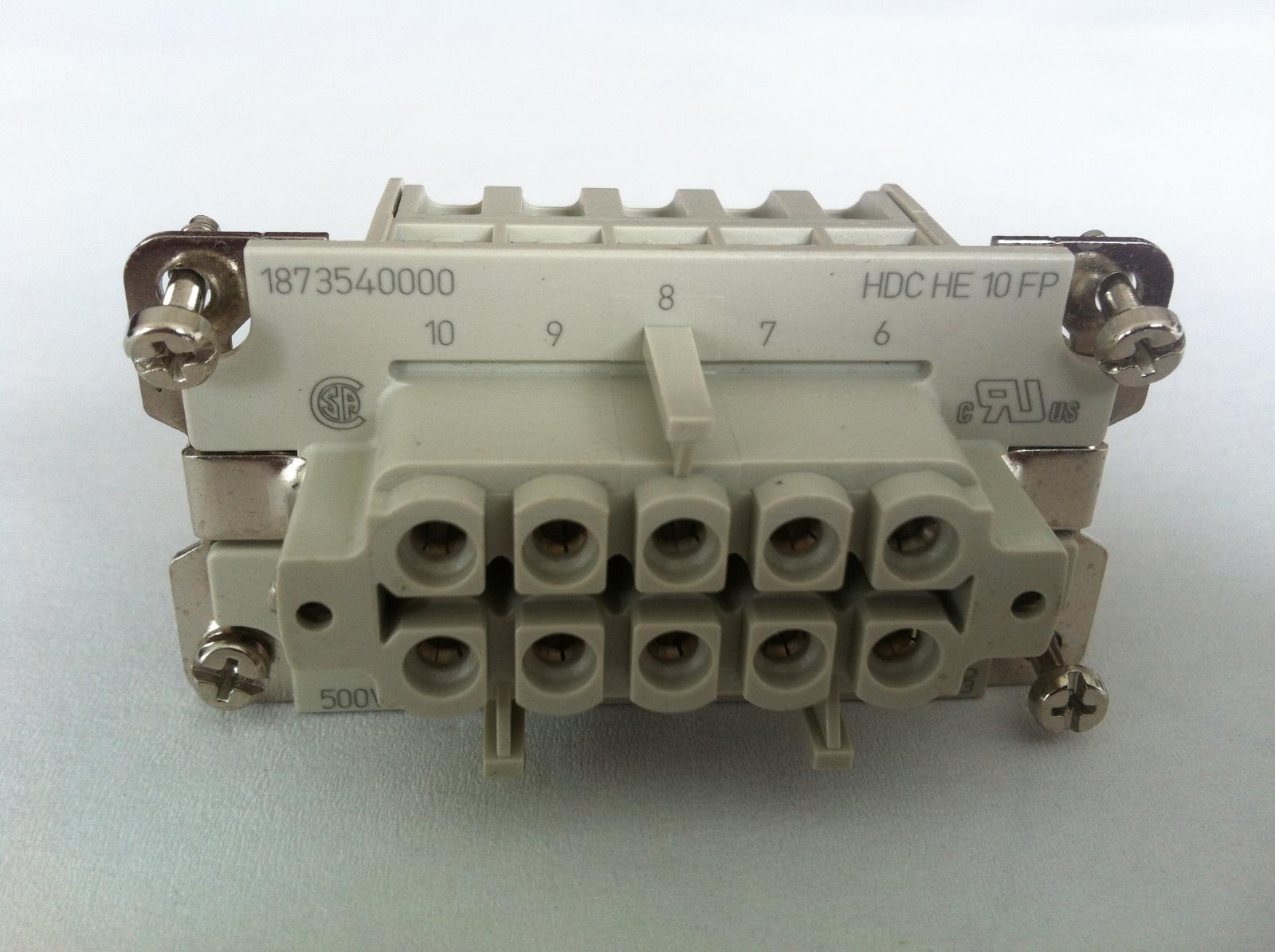 Weidmüller Industrie Steckverbinder Stifteinsatz 10 polig HDC HE 10 MP   Neu