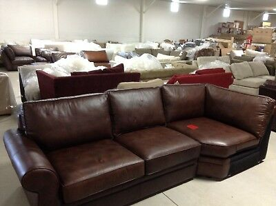 Superb Pottery Barn Pearce Couch Sofa Sectional Cognac Leather Machost Co Dining Chair Design Ideas Machostcouk