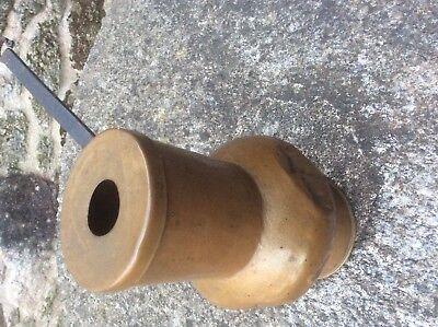 Chocolatera antigua de latón cobre