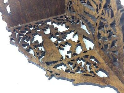 Original Greg Mason 1998 Jigsaw Carved Decorative Shelf Stand Country Scene 8