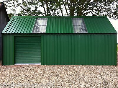 GARAGE/WORKSHOP BUILDING - STEEL BUILD MASTERS - (3.6m W x 9m L x 3m H)