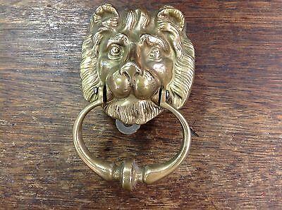 Vintage Solid Brass Lion Door Knocker. VERY NICE! 2