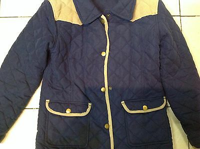 Matalan Girls Quilted Coat Age 7-8 years 2