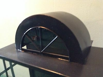 """Large Black Metal Outdoor Sconce Arched Top With Glass 18"""" X 12""""  Light Fixture 2"""