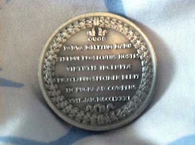 COMITIA AMERICANA, GULIELMO WASHINGTON LEGIONIS  39MM Pewter Medal 1975 2