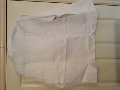"""Alexandra white Lab / catering ect Thick smock top W12 size 45.5"""" chest 4"""