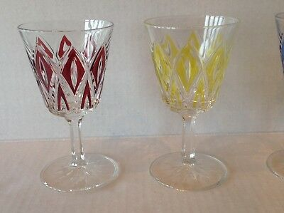 Vintage Stemware Cordial Glass Diamond coloured EACH SOLD SEPARATELY 2