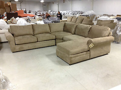 Pottery barn pearce couch sofa sectional light wheat for Pearce sectional sofa pottery barn