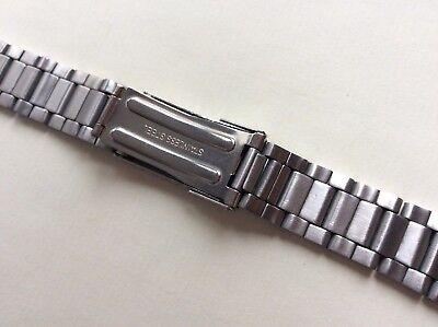 Cinturino in acciaio satinato tipo Oyster ansa curva 20mm steel watch band strap 4