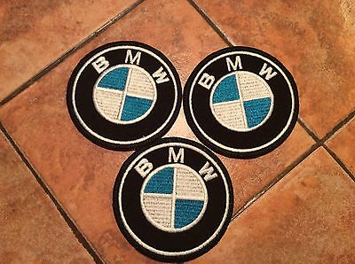 **LOVE IT OR IT'S FREE** BMW  Iron on Patch embroidered on Black Fabric, Free Sh 3