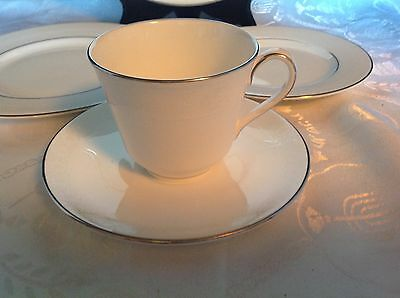 Royal Doulton Amulet Pattern 5 Pc Place Setting Cup Saucer Side Salad Dinner #1 2