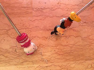 Hello Kitty, Mickey: Ravissants Parapluies Enfant Manches Figurines, Neufs 2