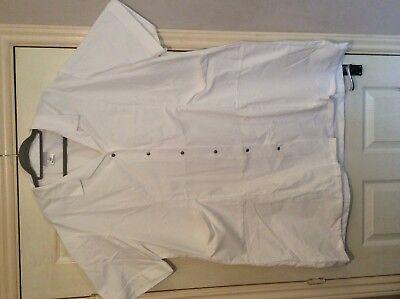 "Alexandra  White nurse carer ect tunic top s/s W63 60"" chest 2"