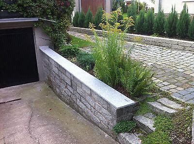 Mauerabdeckung Naturstein Grau Granit Abdeckung Abdeckplatte Mauer