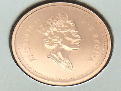2000 CANADA NICKEL Specimen 1 One Cent Penny Canadian Uncirculated Coin E201