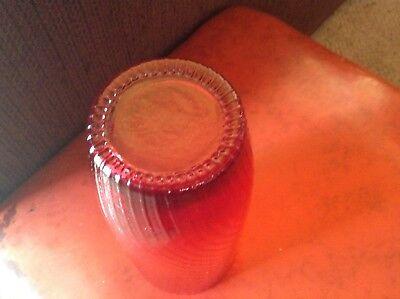 VINTAGE RED RUBY GLASS VASE w METAL MOUNT IN A BIRD MOTIF 7