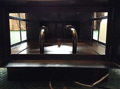 """Large Black Metal Outdoor Sconce Arched Top With Glass 18"""" X 12""""  Light Fixture"""