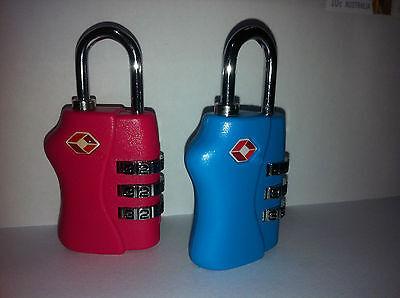 4 X 3 Digit TSA approved Combination Locks Travel Luggage Padlock Suitcase 2